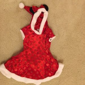 Minnie Mouse Disney Parks Santa dress size S